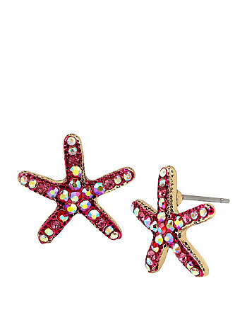 BETSEY AND THE SEA STARFISH STUD EARRINGS
