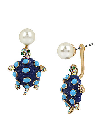 BETSEY AND THE SEA TURTLE EARRINGS
