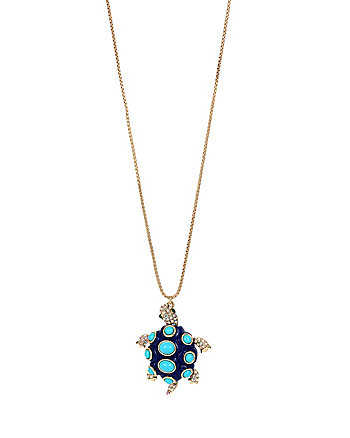 BETSEY AND THE SEA TURTLE LONG PENDANT