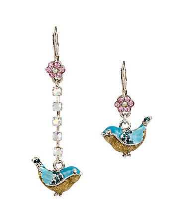 BETSEY BAUBLE BIRD MISMATCH EARRINGS