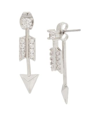 BETSEY BLUE ARROW FRONT BACK EARRINGS CRYSTAL