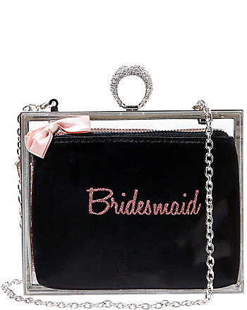 BETSEY BLUE BRIDESMAID ACRYLIC CLUTCH