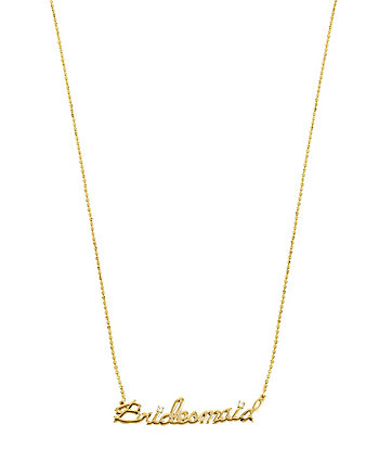 BETSEY BLUE BRIDESMAID GOLD PENDANT