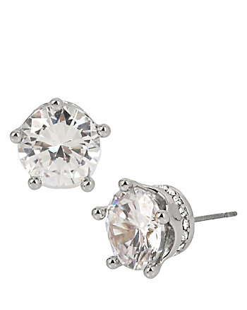 BETSEY BLUE CROWN STUD EARRINGS