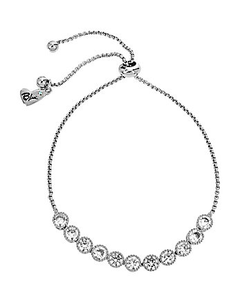 BETSEY BLUE CRYSTAL SLIDER NECKLACE
