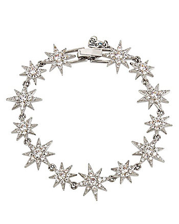 BETSEY BLUE CRYSTAL STAR TENNIS BRACELET