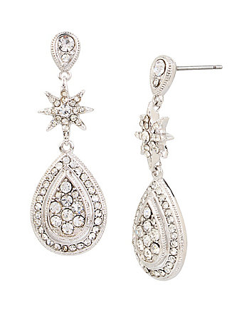 BETSEY BLUE CRYSTAL TEARDROP EARRINGS