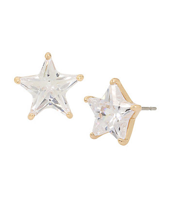 BETSEY BLUE GOLD STAR STUD EARRINGS