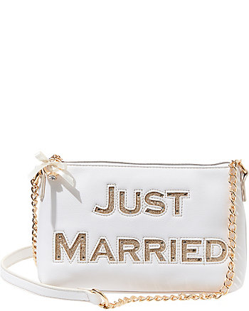 BETSEY BLUE JUST MARRIED SHOULDER BAG