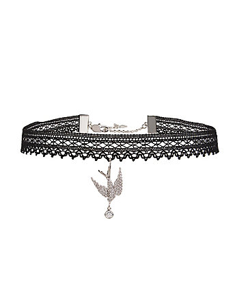 BETSEY BLUE LOVE BIRDS DOVE CHOKER