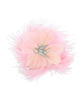 BETSEY BLUE LOVE BIRDS FEATHER HAIR CLIP