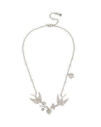 BETSEY BLUE LOVE BIRDS FRONTAL NECKLACE