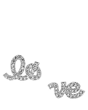 BETSEY BLUE LOVE STUD SET