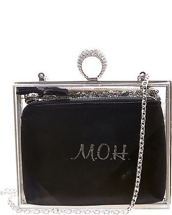 BETSEY BLUE MAID OF HONOR ACRYLIC CLUTCH