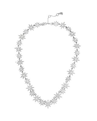 BETSEY BLUE PAVE STAR NECKLACE CRYSTAL