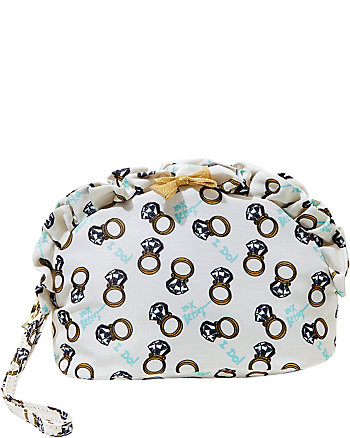 BETSEY BLUE RINGS GALORE COSMETIC CASE