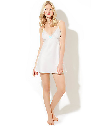 BETSEY BLUE SATIN SLIP