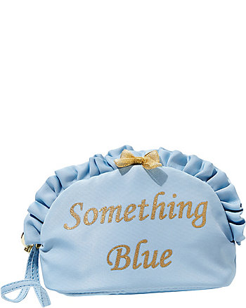 BETSEY BLUE SOMETHING BLUE COSMETIC CASE
