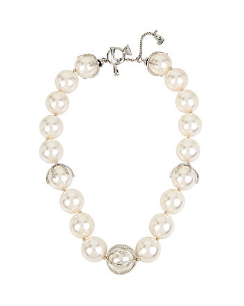 BETSEY BLUE STUNNING PEARLS NECKLACE