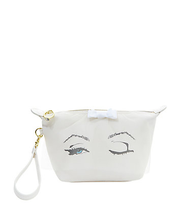 BETSEY BLUE VEIL COSMETIC CASE