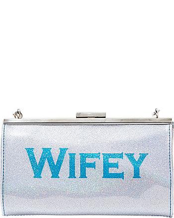 BETSEY BLUE WIFEY CLUTCH