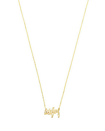 BETSEY BLUE WIFEY GOLD PENDANT