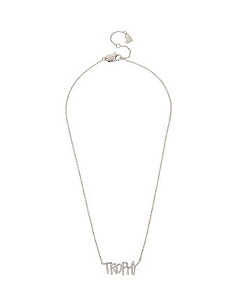 BETSEY BLUE WORD PLAY TROPHY PENDANT