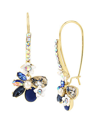 BETSEY BLUES FLOWER EARRINGS