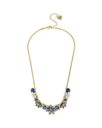 BETSEY BLUES FLOWER FRONTAL NECKLACE