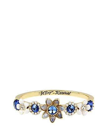 BETSEY BLUES FLOWER HINGE BANGLE
