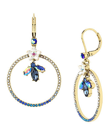 BETSEY BLUES GYPSY HOOP EARRINGS