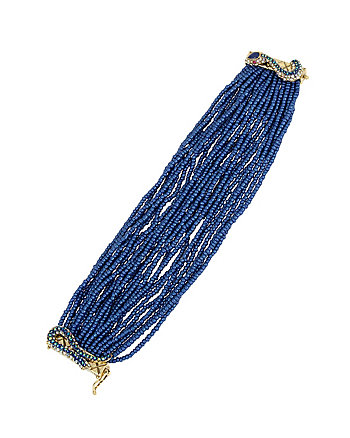 BETSEY BLUES SEED BEAD BRACELET