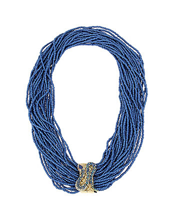 BETSEY BLUES SEED BEAD NECKLACE