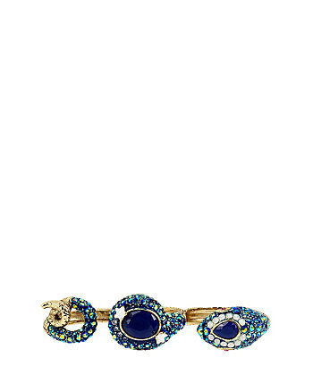 BETSEY BLUES SNAKE DOUBLE RING