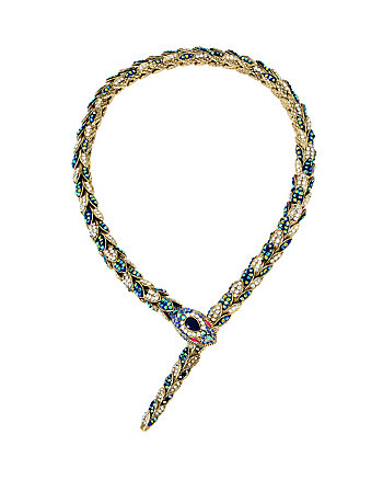BETSEY BLUES SNAKE FRONTAL NECKLACE