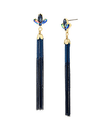 BETSEY BLUES TASSEL EARRINGS