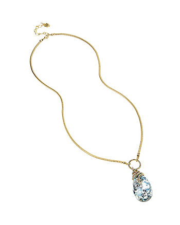 BETSEY BLUES TEARDROP SNAKE NECKLACE