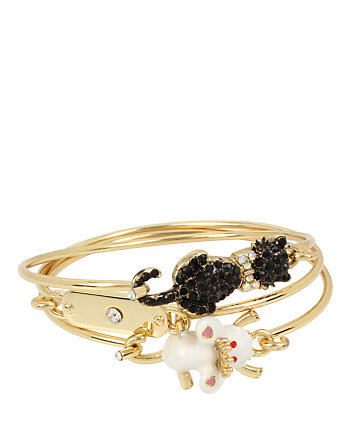 BETSEY GIFTING CAT AND MOUSE BANGLE SET