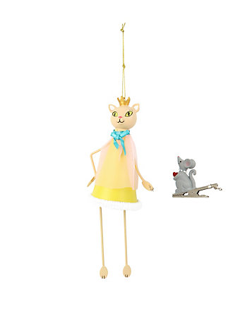 BETSEY GIFTING CAT AND MOUSE ORNAMENT