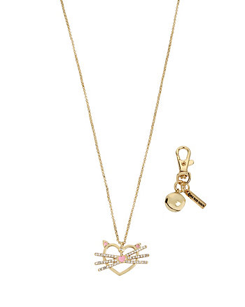 BETSEY GIFTING CAT PENDANT AND BALL DOG CHARM