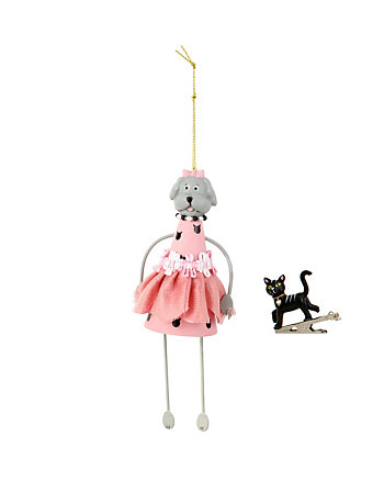 BETSEY GIFTING DOG AND CAT ORNAMENT