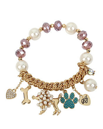 BETSEY GIFTING DOGGY STRETCH BRACELET