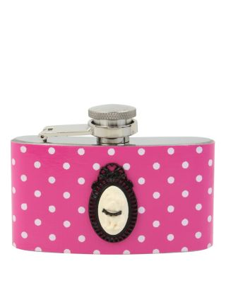 BETSEY DOTTED CAMEO FLASK