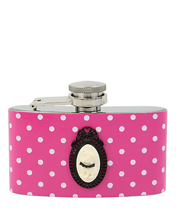 BETSEY GIFTING DOTTED CAMEO FLASK