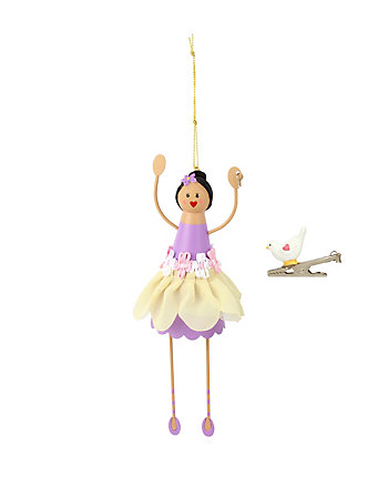 BETSEY GIFTING FLOWER GIRL AND BIRD ORNAMENT