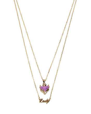 BETSEY GIFTING FOXY LADY 2 ROW NECKLACE