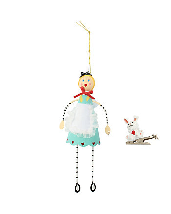 BETSEY GIFTING GIRL AND BUNNY ORNAMENT