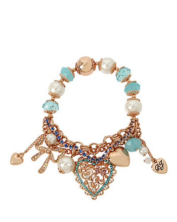 BETSEY GIFTING HEART STRETCH BRACELET