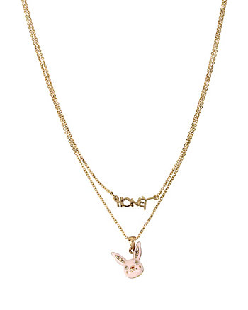 BETSEY GIFTING HONEY BUNNY 2 ROW NECKLACE