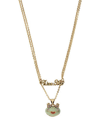 BETSEY GIFTING KISS ME FROG2 ROW NECKLACE